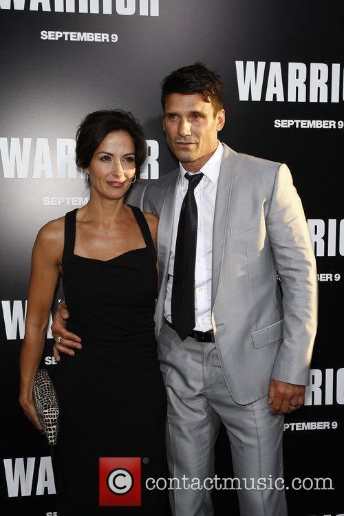 Frank Grillo; wife  Warrior Los Angeles Premiere...