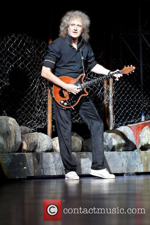 Brian May performing the hit musical 'We Will...