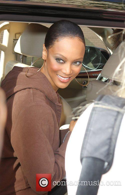 tyra banks outside fox studios after the 3566792