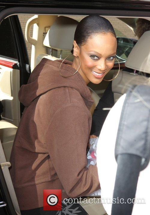 Tyra Banks outside Fox studios after 'The Wendy...