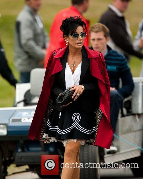 Nancy Dell'Olio  arrives at Wentworth during the...