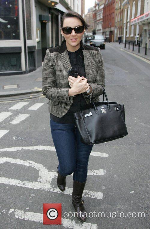 Martine McCutcheon walking in London's West End London,...