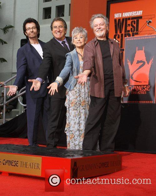 George Chakiris, Kenny Ortega, Rita Moreno, Russ Tamblyn and Grauman's Chinese Theatre 11