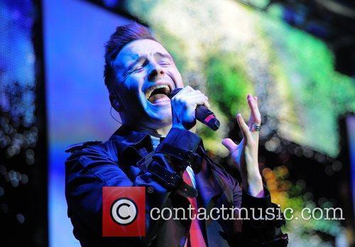 Shane Filan Westlife perform live at the LG...