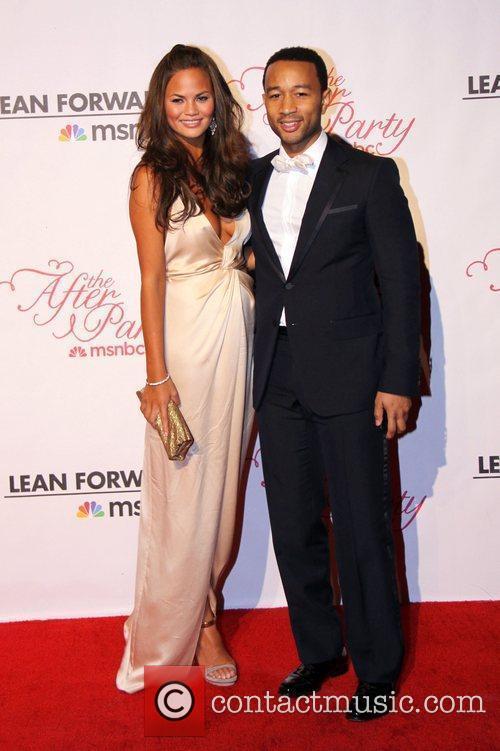 Chrissy Teigen and John Legend  2011 White...
