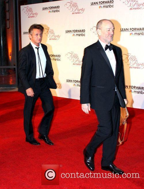 Sean Penn and Michael Stipe 2011 White House...