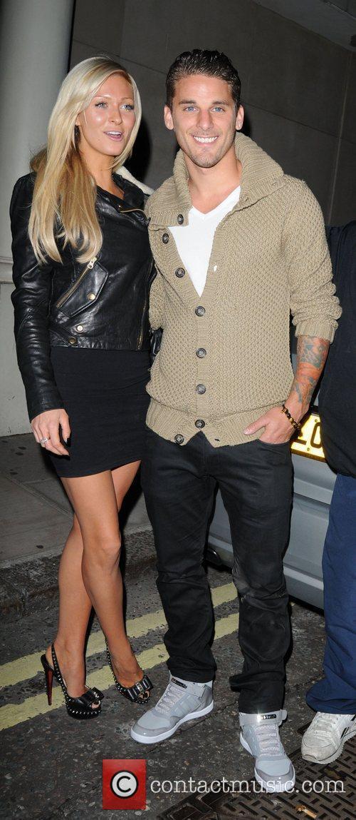David Bentley and girlfriend Kimberley Mills  leaving...
