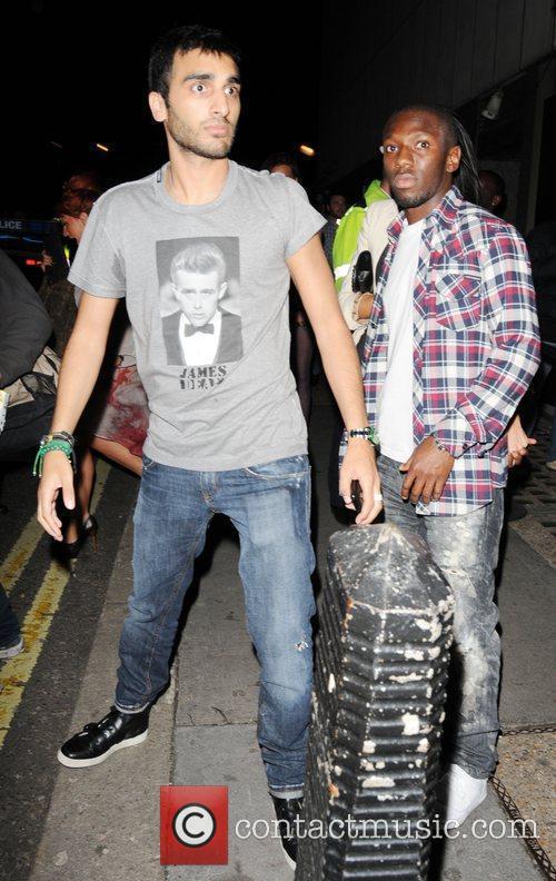 Shaun Wright-Phillips  leaving Whisky Mist nightclub London,...