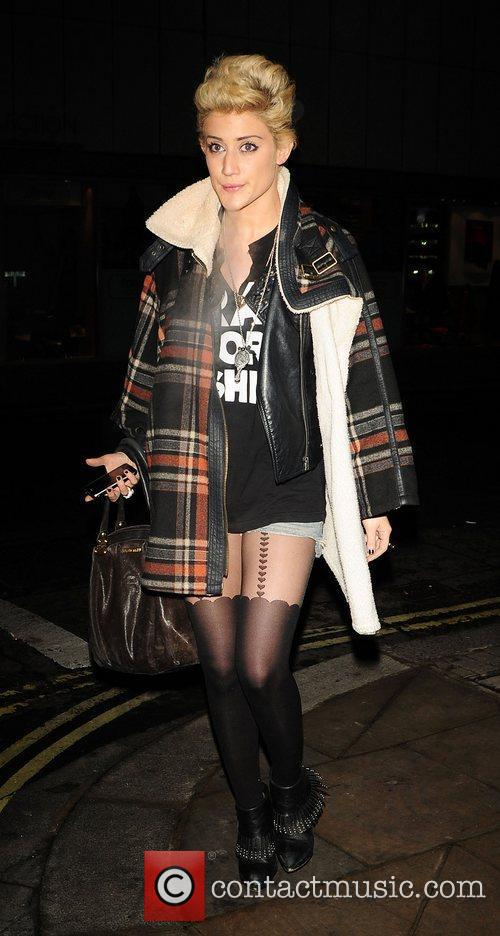 Katie Waissel at Whisky Mist club wearing a...