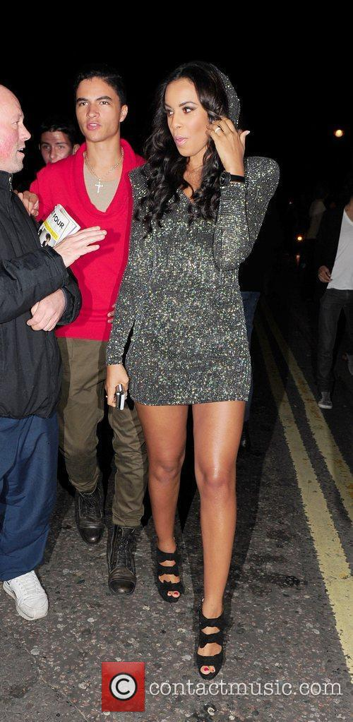 Rochelle Wiseman is seen leaving Whisky Mist