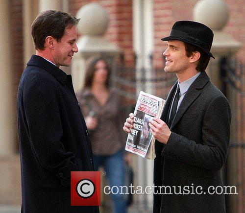 Tim DeKay and Matthew Bomer shooting on location...