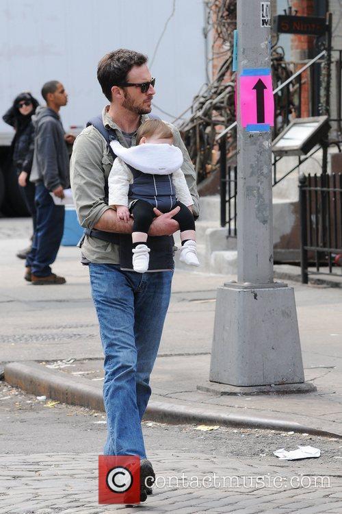 Brady Smith with daughter Harper Renn heading to...