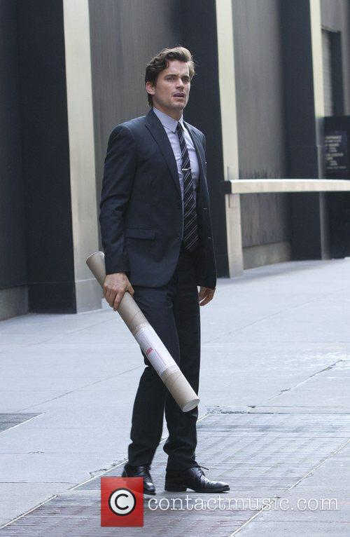 Matt Bomer shooting on location for 'White Collar'...