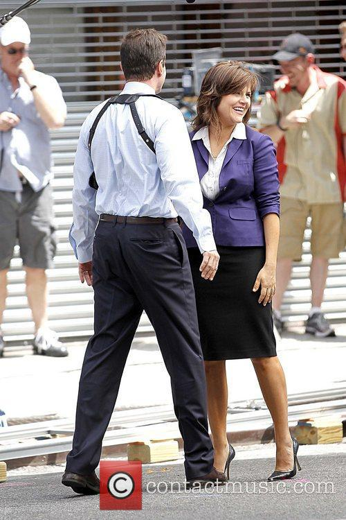 Filming on the set of 'White Collar' in...