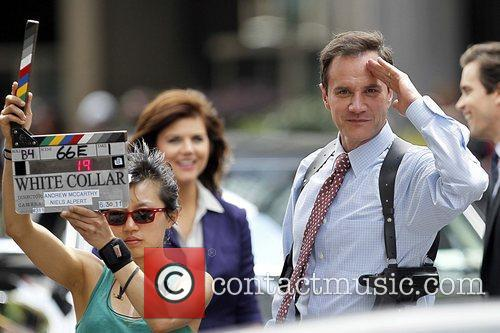 Tim DeKay filming on the set of 'White...