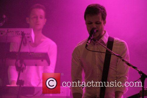 English alternative rock band 'White Lies' performing on...