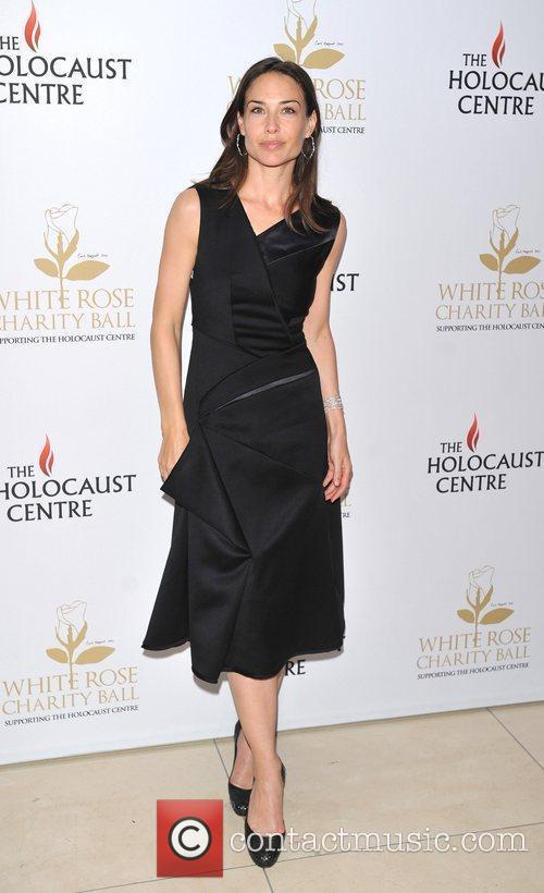 Claire Forlani White Rose charity ball held at...
