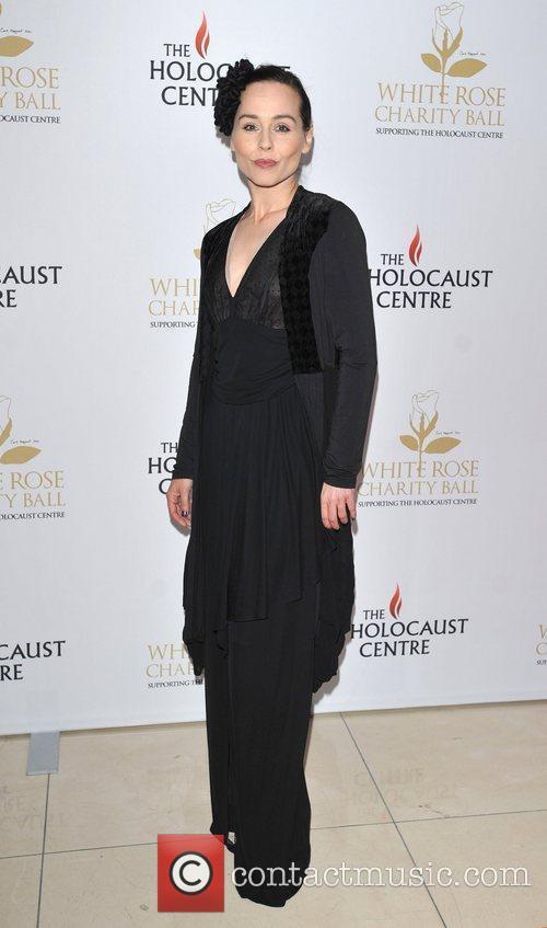Tara Fitzgerald White Rose charity ball held at...