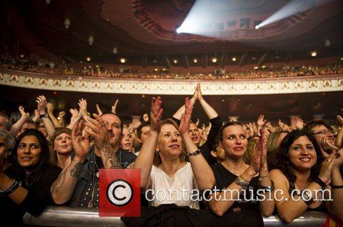 Fans at the performance of Whitesnake at the...