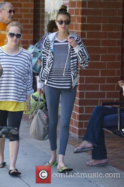 Whitney Port is seen leaving the Beverly Hills...