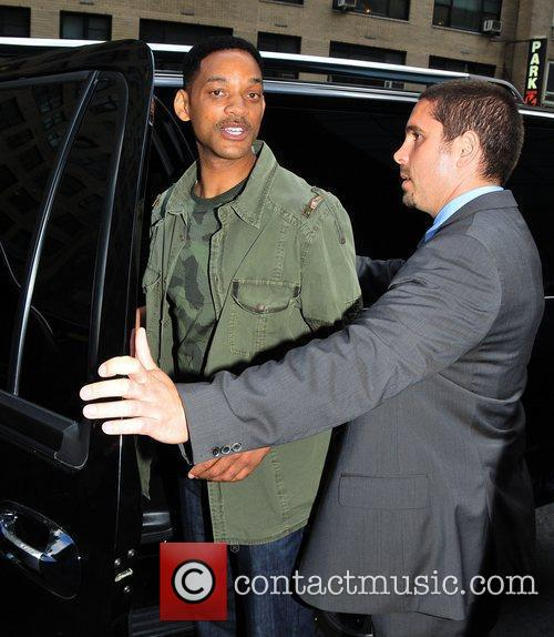 Will Smith outside his midtown hotel in New...