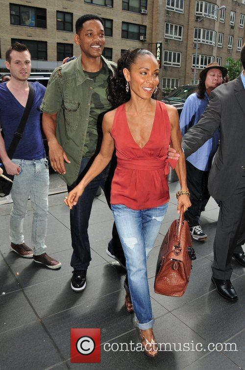 Will Smith and Jada Pinkett Smith outside their...