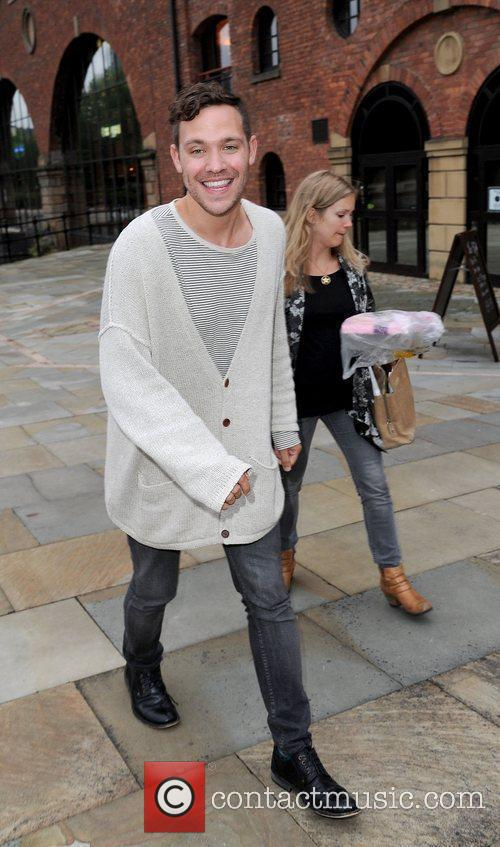Will Young is all smiles as he leaves...