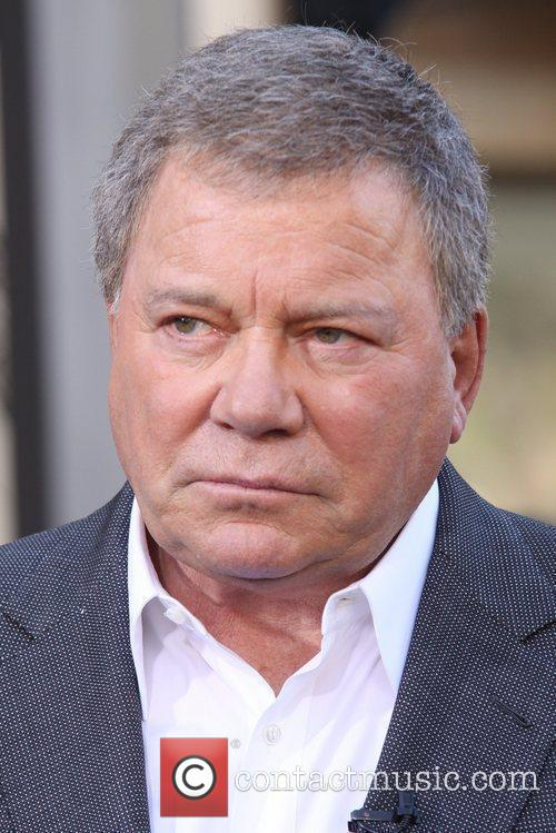 William Shatner is seen dropping by 'Extra' for...