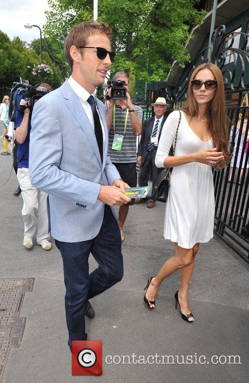 Jenson Button and Jessica Michibata Wimbledon Men's finals...
