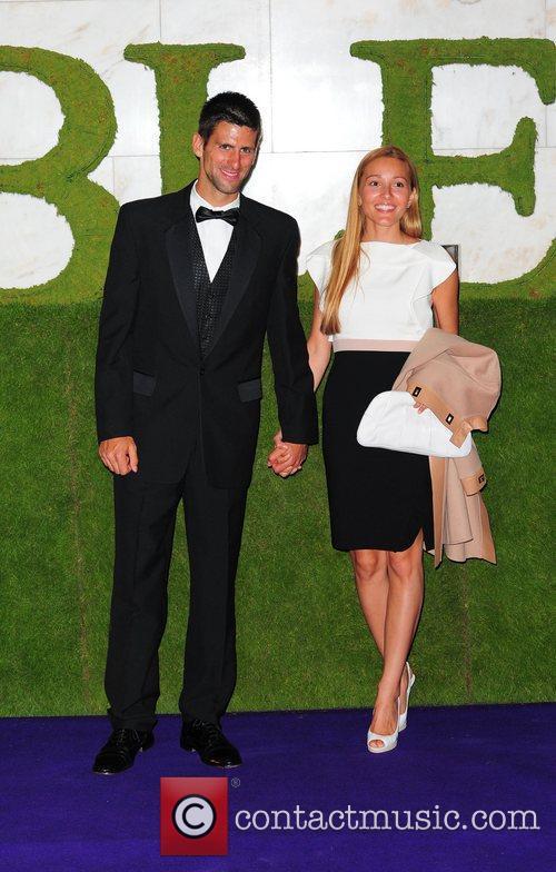 Novak Djokovic and guest 2011 Wimbledon Champions Dinner...