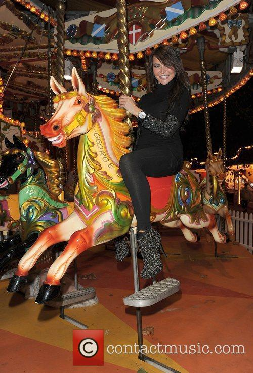 Lizzie Cundy at Winter Wonderland, held in Hyde...