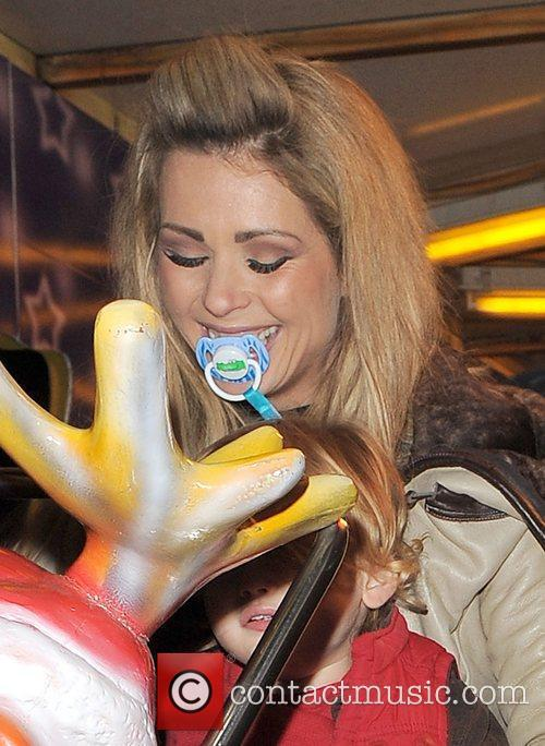 Nicola McLean sucking on her childs dummy, while...