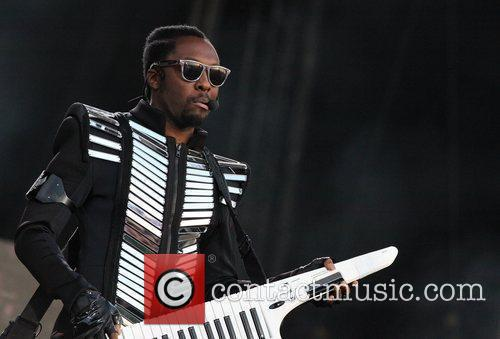 will.i.am of The Black Eyed Peas performs Wireless...