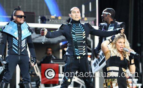 The Black Eyed Peas perform Wireless Festival held...