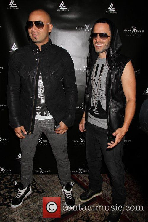 Marc Ecko and Wisin Yandel press conference at...