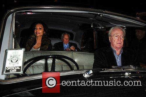 Sir Michael Caine, Shakira Caine and Michael Winner...