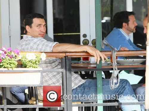 Hayden Panettiere's boyfriend, Wladimir Klitscko, enjoy's lunch with...