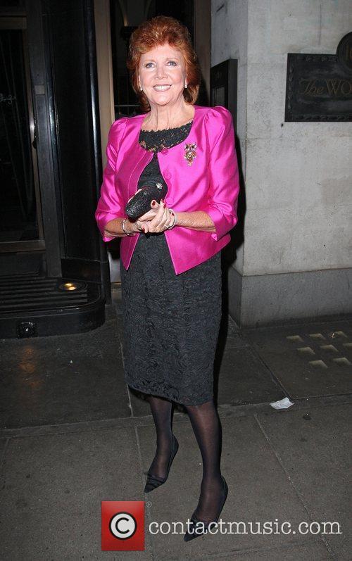 Cilla Black leaving the Wolseley restaurant