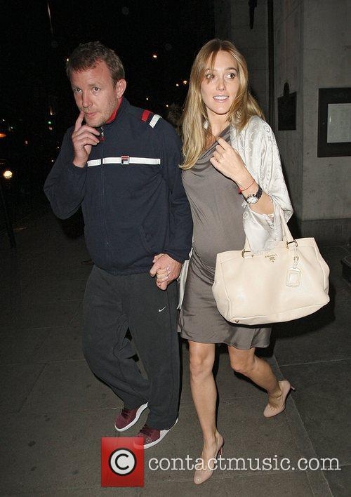 Guy Ritchie and his pregnant girlfriend Jacqui Ainsley...