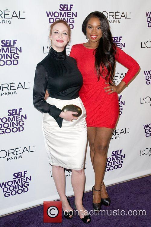 Christina Hendricks and Jennifer Hudson 4