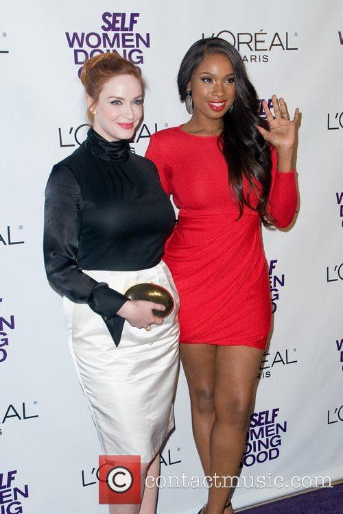 Christina Hendricks and Jennifer Hudson 7