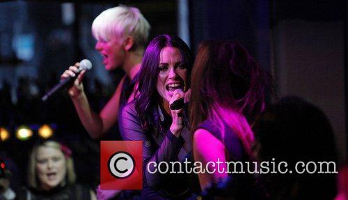 Sharon Condon of band Wonderland performing at The...