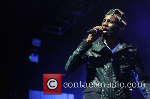 Wretch 32 performing at the O2 Arena Birmingham.
