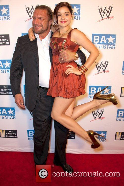 Ariel Winter and Paul Michael Levesque WWE's SummerSlam...