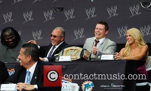 Emilio Estefan, Dan Marino, John Cena and Vince Mcmahon 2