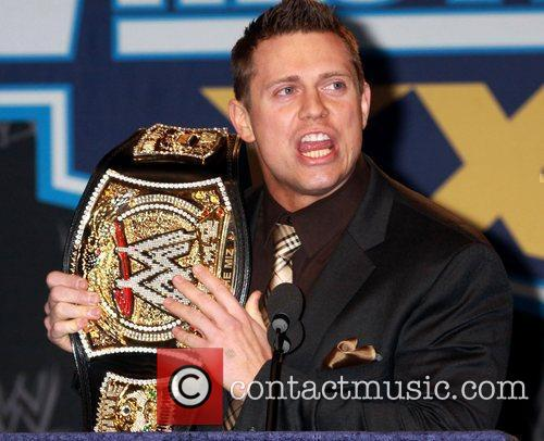 At a press conference with WWE superstars for...