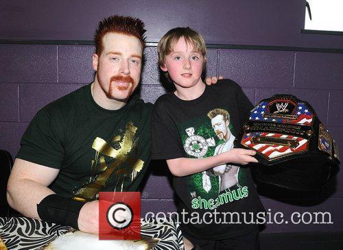 Sheamus and fan Ciaran McDonnell WWE RAW Wrestling...