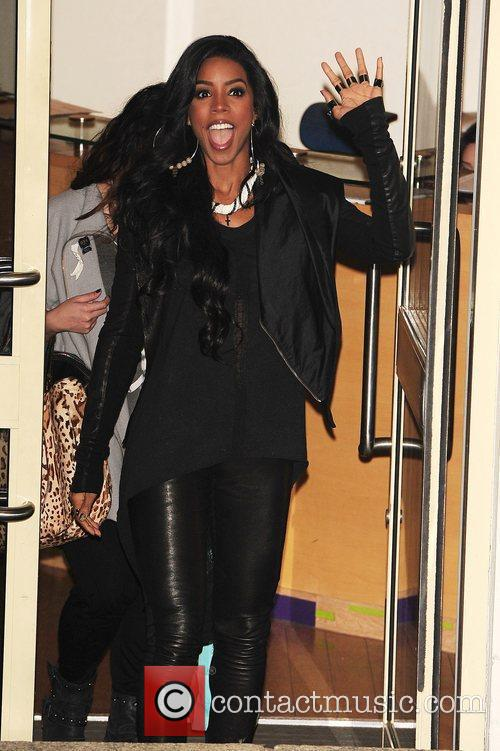 Kelly Rowland of X Factor at Fountain Studio...