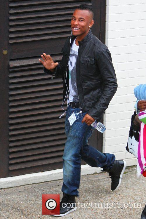 'X Factor' finalist Ashford Campbell arrives at the...
