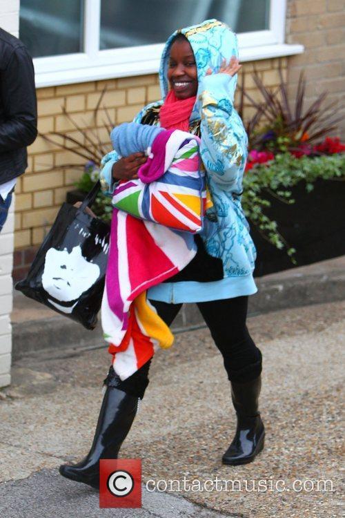'X Factor' finalist Misha Bryan arrives at the...